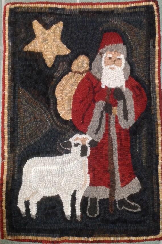"""Rug Hooking Pattern, Christmas Shepherd 16"""" x 24"""", P119"""