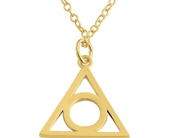 Illuminati Symbol Eye of Providence Pendant Necklace #14k Gold Plated over 925 Sterling Silver #Azaggi N0201G
