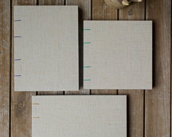Linen Notebook Sketchbook or Journal // Coptic