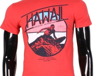 Hawaii screenprinted T-shirt.