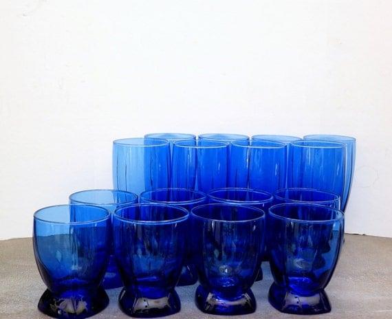 Anchor Hocking Cobalt Blue Drinking Glasses