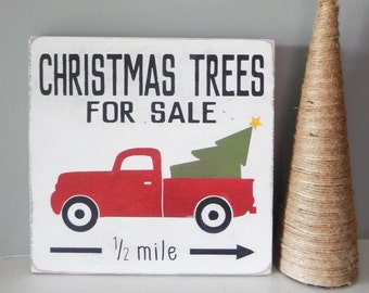 Christmas Trees for Sale Wood Sign