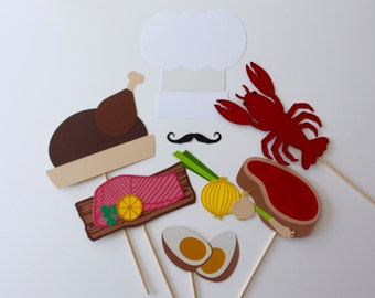 Culinary, Restaurant, Chef Photo Booth Prop Collection