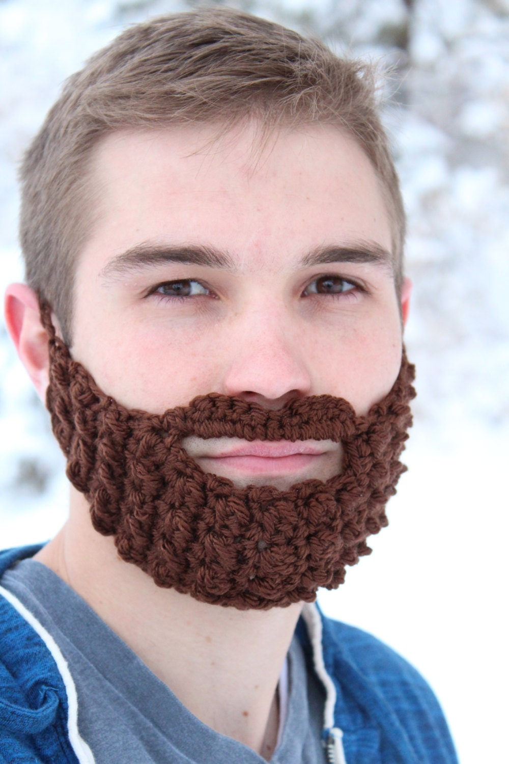 7 Colors Adult Beard Face Warmer Made From Crocheted Yarn