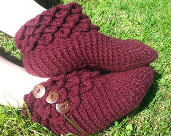 Crochet Women's Slippers - House Slippers - Crochet Slippers for Women - Mermaid Slippers - Women's Slipper Boots - Custom Slippers