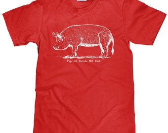 Pigs are Friends Not Food TShirt - Animal Lover T Shirt - Gifts for Vegetarians and Vegans Tee - Item 1946