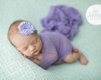 Purple Newborn Knit Wrap, Lavendar Knit Wrap Set, Baby Knit Wrap, Newborn Prop, Newborn Knit Wrap, Newborn Wrap Set, Photography Prop
