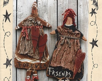 "Country Thoughts - Forever Friends - Wood Pattern - 25"" Tall - Designer Jodi Gadoury"