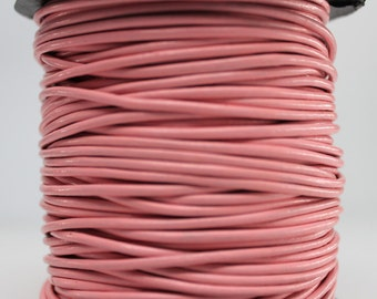 10 Meters of 2MM Light Pink Round Leather Cord (10 yards) (10m)