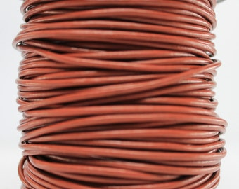 10 Meters of 2MM Saddle Brown Leather Cord (10 yards) (10m)