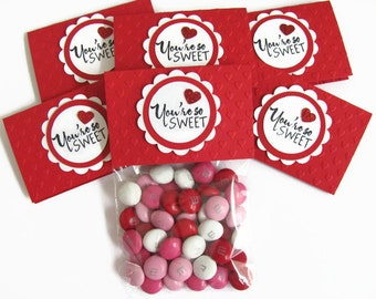 valentine treat bags kids school valentinesembossed red heart valentine candy bags and toppers - Personalized Valentine Candy