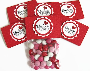 valentine treat bags kids school valentinesembossed red heart valentine candy bags and toppers