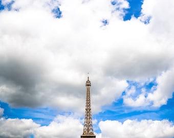 """Paris Art, Eiffel Tower, Fine Art Print, Paris Photography, Eiffel Tower Print, Urban Print, Paris Wall Decor, Paris Sky - """"La Tour"""""""