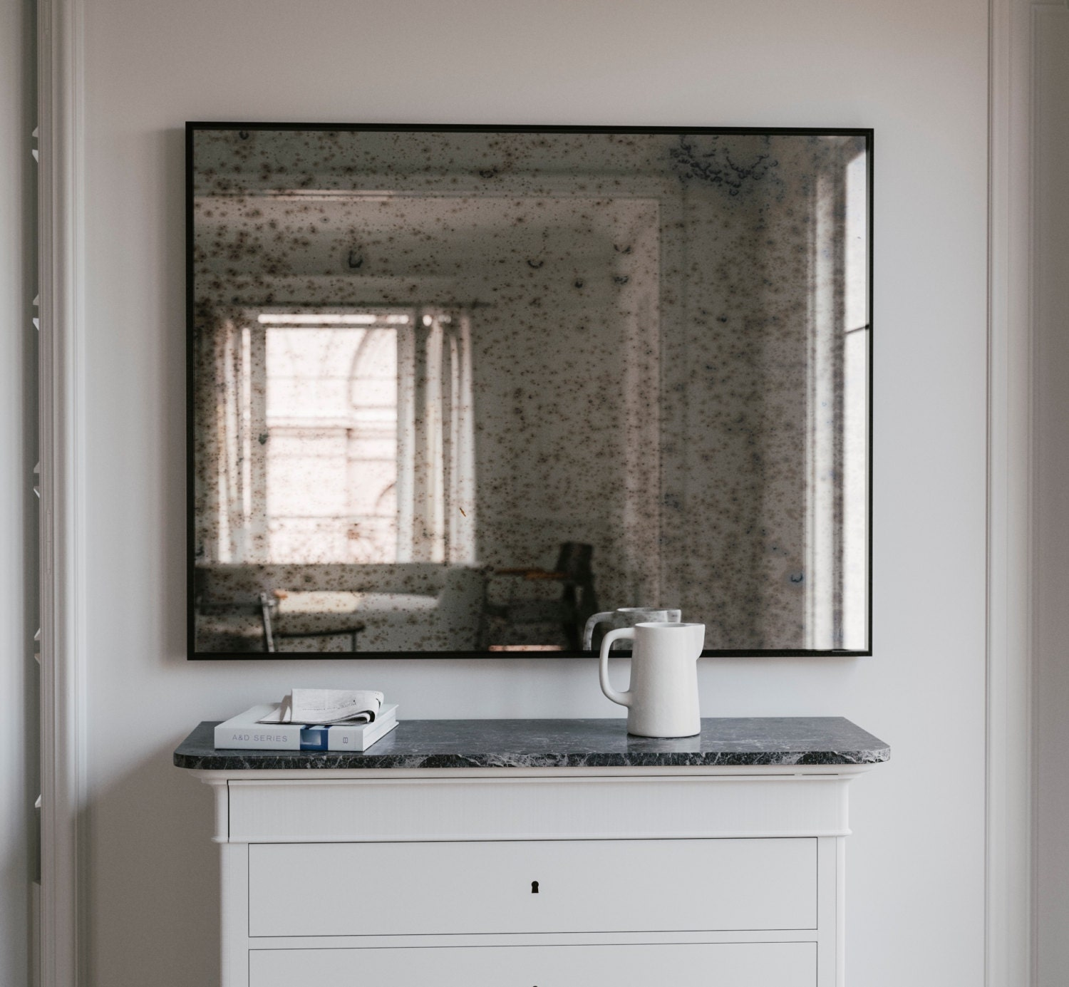 The Coveteur Antique Mirror Walls: Large Wall Mirror. Antiqued Mirror. Distressed Antiqued Mirror