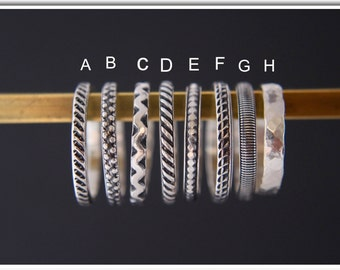 Stack rings.Silver rings.Sterling silver stacking rings.Rustic rings.Band rings.Stackable rings.Hand made jewellery.Custom made.