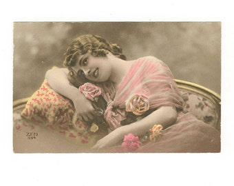 Vintage Edwardian Postcard of a Beautiful Young Girl by ZED Unposted