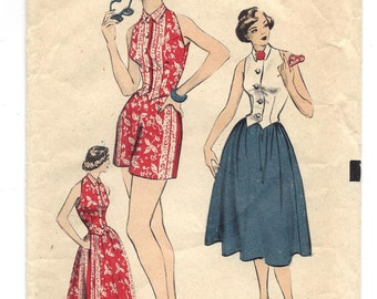 1950s Advance #5838, Skirt, Shorts and Halter, Teen-Age Fashion, UNUSED FF, Size 12, Bust 30