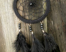 Black Dream Catcher Wall Hanging
