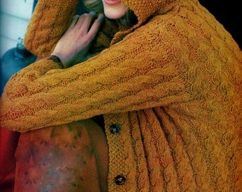 Cable Knit Jacket and Hat Vintage Knitting Pattern Download
