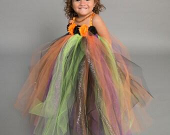 Flower girl dress - tutu dress - tulle dress - empire dress - Infant/Toddler - Pageant dress - wedding - Halloween dress - partyflower dress