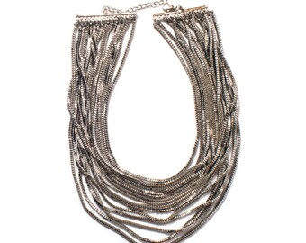 The Waterfall Statement Necklace
