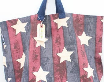 Canvas Bag: Stars and Stripes, washable