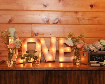 "12"" Light Up Letters LOVE Marquee Sign"