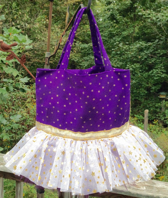 Purple Star Tutu Tote Bag