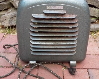 "1950's Industrial WORKING ""Senior"" Space Heater by Mimar Products, Heaters, Mid Century Home Decor, Mid Century Space Heater, Metal Heaters"