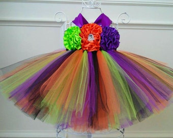 1st Halloween Costume Dress, Witch Tutu Dress Costume