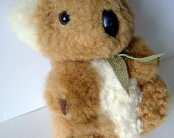 Vintage KOALA BEAR Stuffed Animal Toy Thick Lambswool Australia