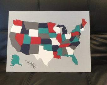 United states puzzle  Etsy