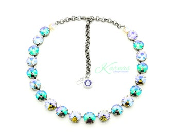 SUNSET at THE PIER 12mm Choker Made With Swarovski Crystal *Pick Your Finish *Karnas Design Studio™ *Free Shipping*