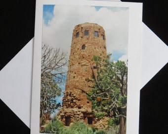 Desert View Watchtower Photo Card; Grand Canyon; Birthday; Thank You; Friendship; Get Well; All Occasion