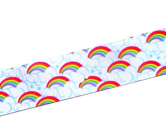"3 yards - 1.5"" Wide Rainbow Grosgrain Ribbon by the Yard"