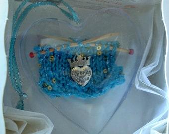 Christmas Ornament for Knitter - Queen Knitter Charm