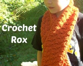 Crochet PATTERN Foxy Roxy  Pattern ONLY Critter Scarf  to make a fox scarf!!