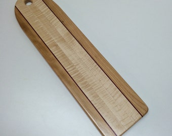 Curtly Maple Baguette Board with Purple Heart Accents