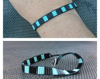 "Collection ""Buren"" Turquoise/black bracelet"