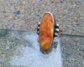 Navajo Spiny Oyster Shell Ring Size 8 Vintage M Bennett