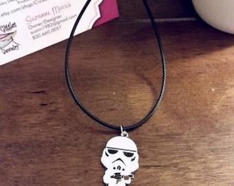 Star Wars Storm Trooper Charm Necklace