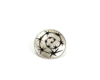 Star Metal Buttons 15mm Silver Qty 3