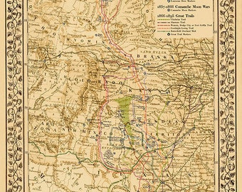 The Great Lonesome Dove Comanche Moon Trails Map Print