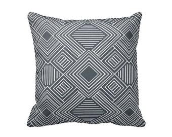 Grey Throw Pillow Cover Charcoal Grey Pillow Covers Charcoal Pillows Gunmetal Gray Pillow Gunmetal Pillow Decorative Pillow Geometric Pillow