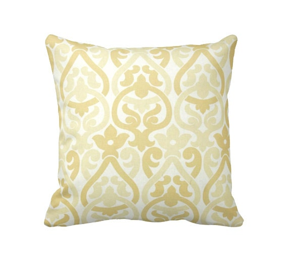 Dimensions Of Throw Pillow : 7 Sizes Available: Decorative Pillow Throw Pillows Yellow