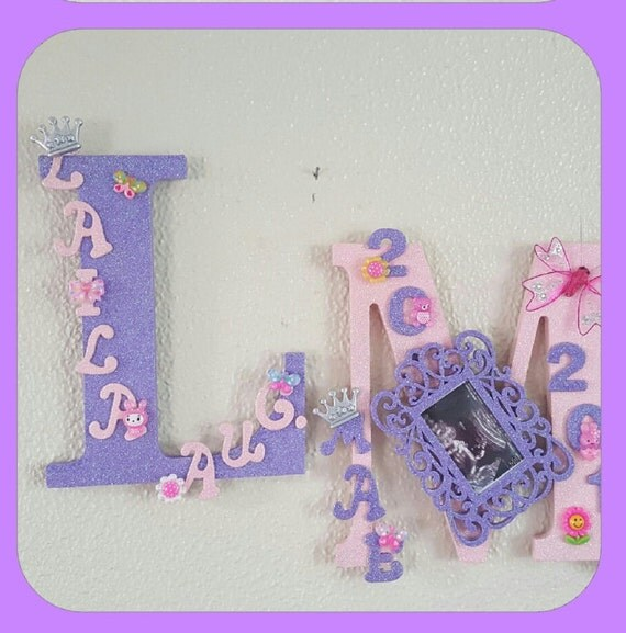 Nursery wooden letters for girl or boy personalized for Where to buy wooden letters for nursery