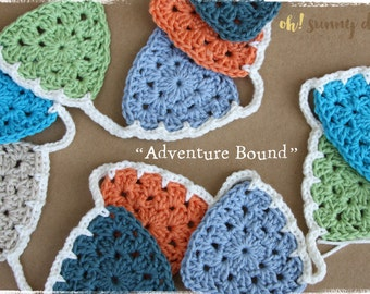"S A L E  Crochet Bunting - ""Adventure Bound"" - Free Shipping"