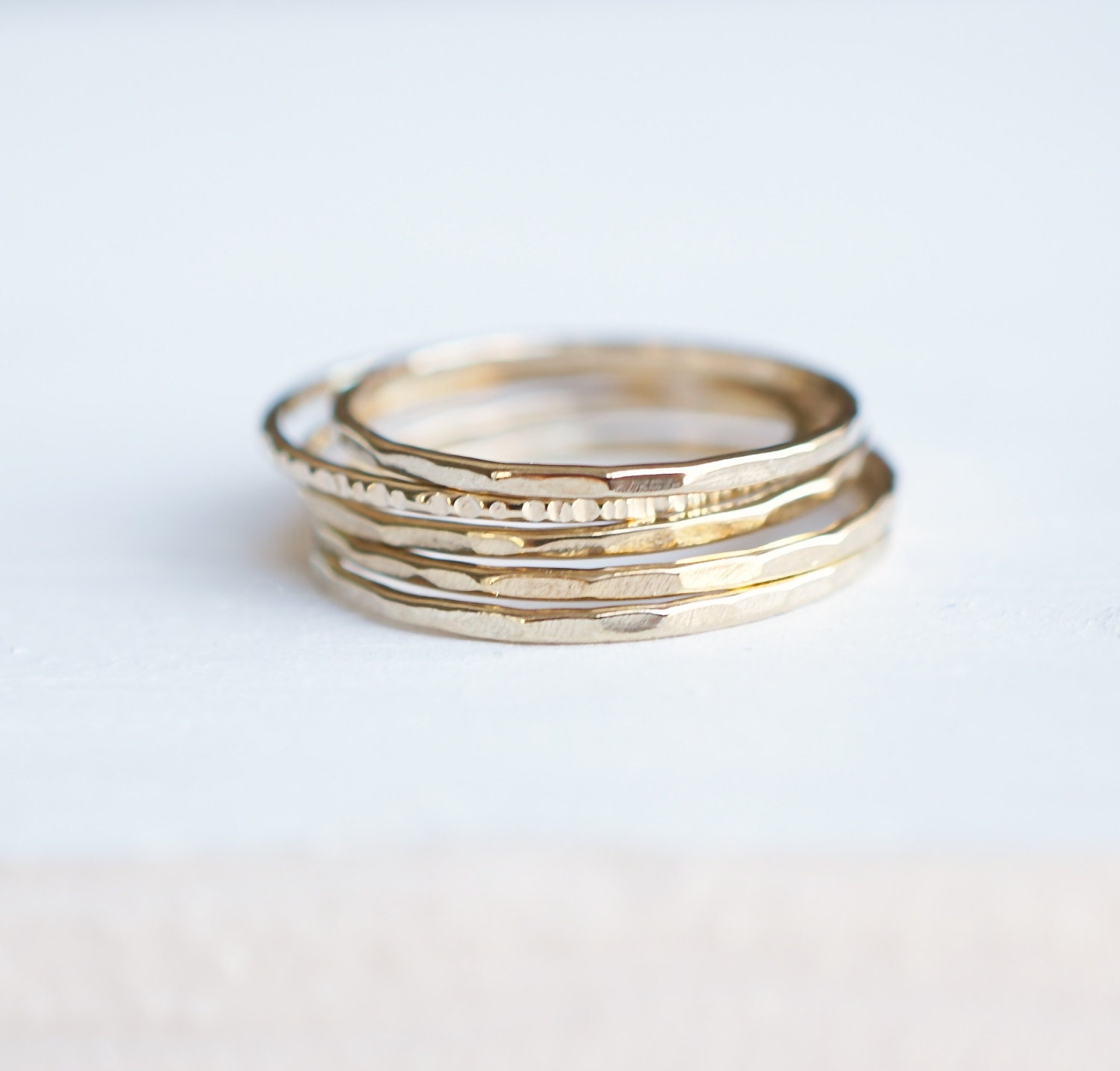 stackable rings ring set 14k gold rings gift for her by. Black Bedroom Furniture Sets. Home Design Ideas