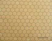 Chicken Wire Fabric, Moda 8255 2, Natural, Chicken Wire Quilt Fabric, Chicken Fabric, Farmhouse & Country Decor, Golden Tan, Honeycomb