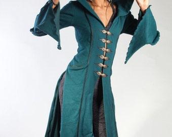 Long Kebaya Womens Coat - Teal